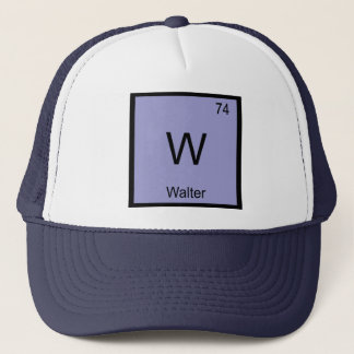 Walter Name Chemistry Element Periodic Table Trucker Hat