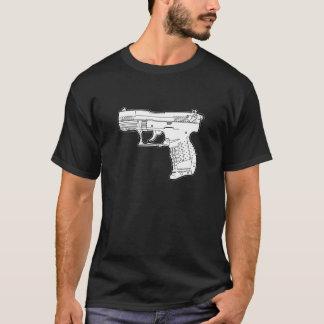 walter p22 gun firearm stencil graphic t-shirt
