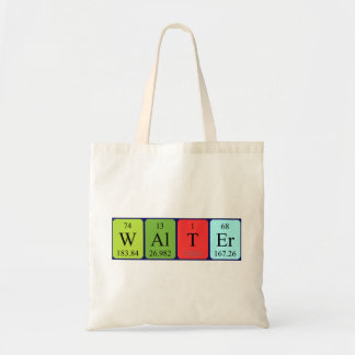 Walter periodic table name tote bag