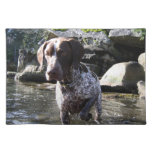 Walter Pointing in the Water Placemat Cloth Place Mat
