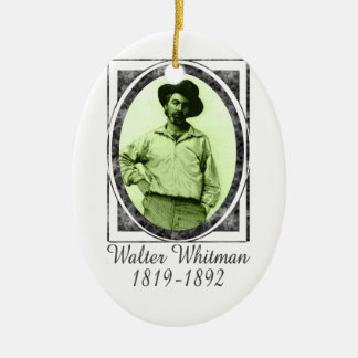 Walter Whitman Ceramic Ornament