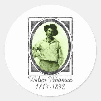 Walter Whitman Classic Round Sticker