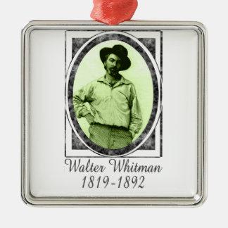 Walter Whitman Metal Ornament