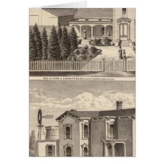 Walters, Crowell residences, farm Card