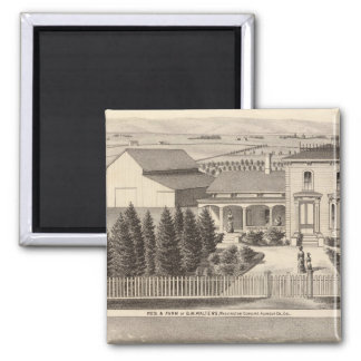Walters, Crowell residences, farm Magnet