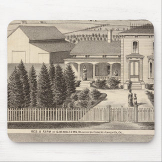 Walters, Crowell residences, farm Mouse Pad