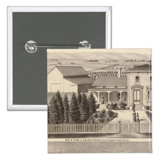 Walters, Crowell residences, farm Pinback Button