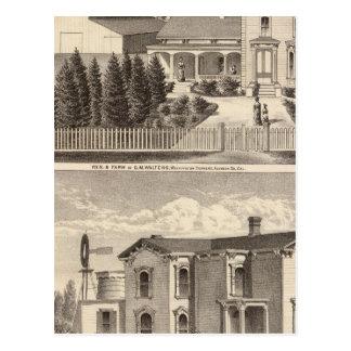 Walters, Crowell residences, farm Postcard