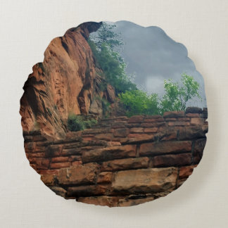 Walters Wiggles Zion National Park Utah Round Pillow