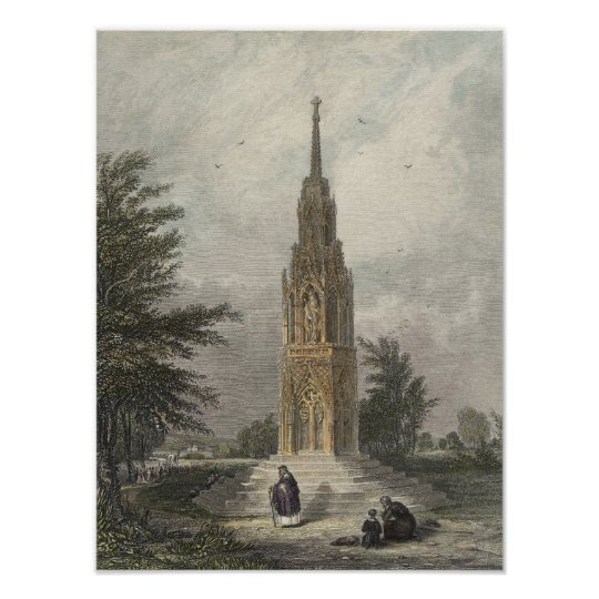 Waltham Cross, c.1820 Poster