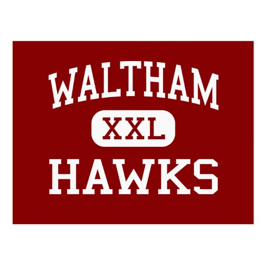 Waltham - Hawks - High - Waltham Massachusetts Postcard
