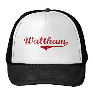 Waltham Massachusetts Classic Design Mesh Hat