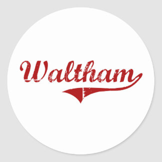 Waltham Massachusetts Classic Design Stickers
