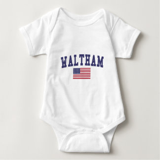 Waltham US Flag Baby Bodysuit