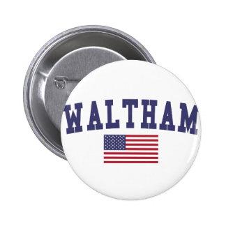 Waltham US Flag Button