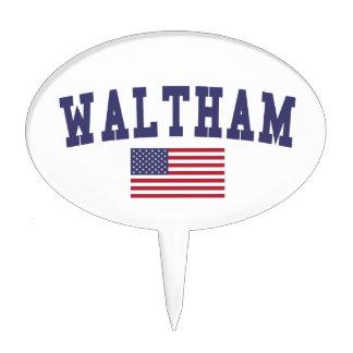 Waltham US Flag Cake Topper