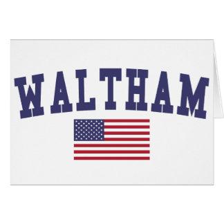 Waltham US Flag Card