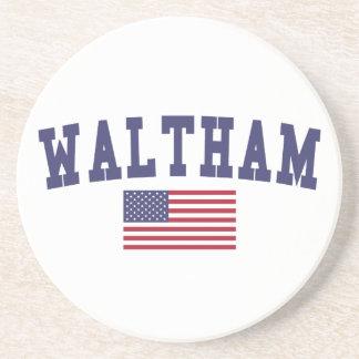 Waltham US Flag Coaster