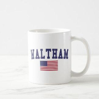 Waltham US Flag Coffee Mug