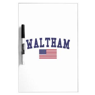 Waltham US Flag Dry-Erase Board