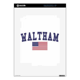 Waltham US Flag iPad 2 Skin