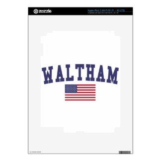 Waltham US Flag iPad 3 Decal