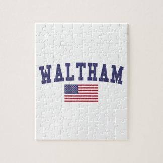Waltham US Flag Jigsaw Puzzle