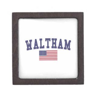 Waltham US Flag Keepsake Box