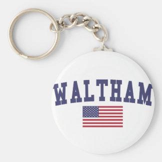 Waltham US Flag Keychain