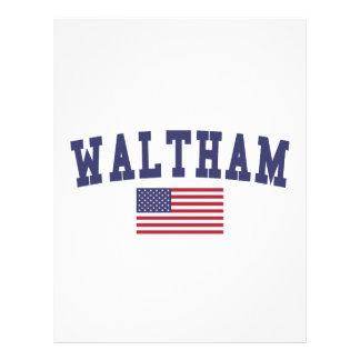 Waltham US Flag Letterhead