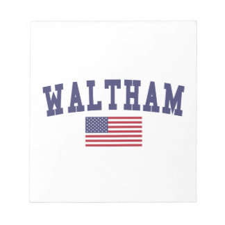 Waltham US Flag Notepad
