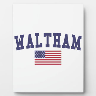 Waltham US Flag Plaque