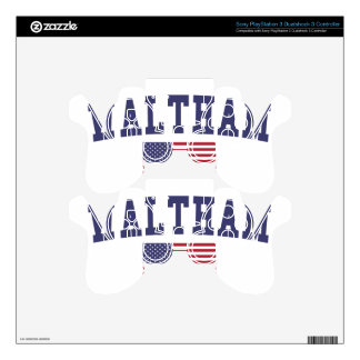 Waltham US Flag PS3 Controller Decals