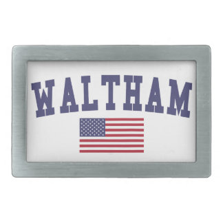 Waltham US Flag Rectangular Belt Buckle