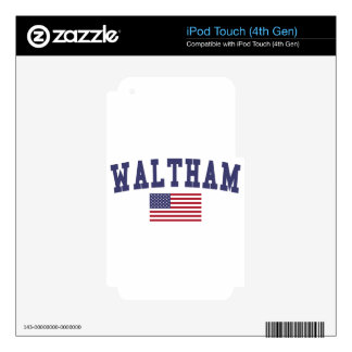 Waltham US Flag Skin For iPod Touch 4G