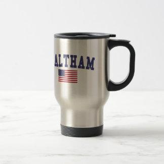 Waltham US Flag Travel Mug
