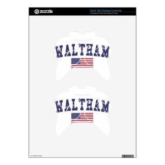 Waltham US Flag Xbox 360 Controller Skins
