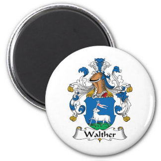 Walther Family Crest 2 Inch Round Magnet