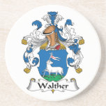 Walther Family Crest Drink Coaster