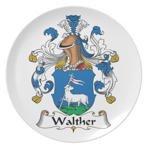 Walther Family Crest Party Plate