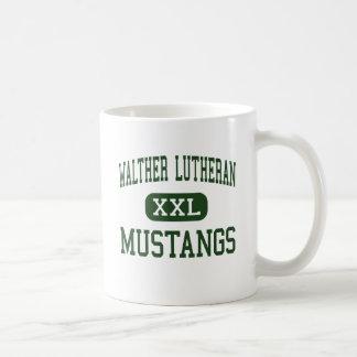 WALTHER LUTHERAN - MUSTANGS - HIGH - Melrose Park Coffee Mugs