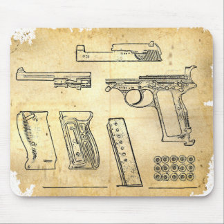 Walther P38 Mouse Pad