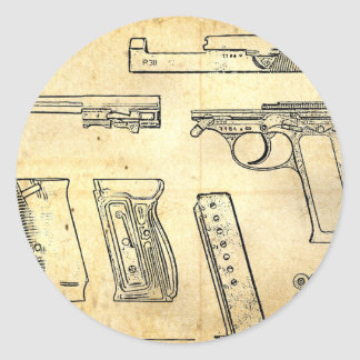 Walther P38 Round Stickers