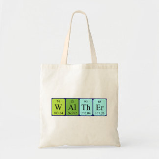 Walther periodic table name tote bag