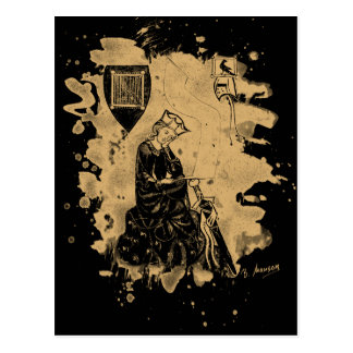 Walther von der Vogelweide - natural bleached Postcard