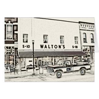 Walton cinco y moneda de diez centavos II Tarjetón