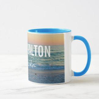 WALTON DEL SUR la FLORIDA - puesta del sol de la Taza