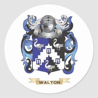 Walton Family Crest (Coat of Arms) Classic Round Sticker