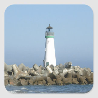 Walton Lighthouse Square Sticker