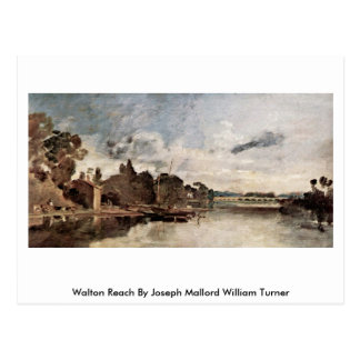 Walton Reach By Joseph Mallord William Turner Postcard